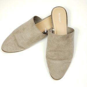 Old Navy taupe mules size 9
